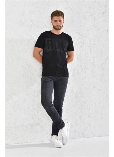 Rodi Jeans Rodi Erkek Flamlı Rodi Baskılı T-Shirt Rd21Ye270002 Siyah